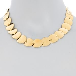 NWT: Kate Spade Gold Disc Necklace